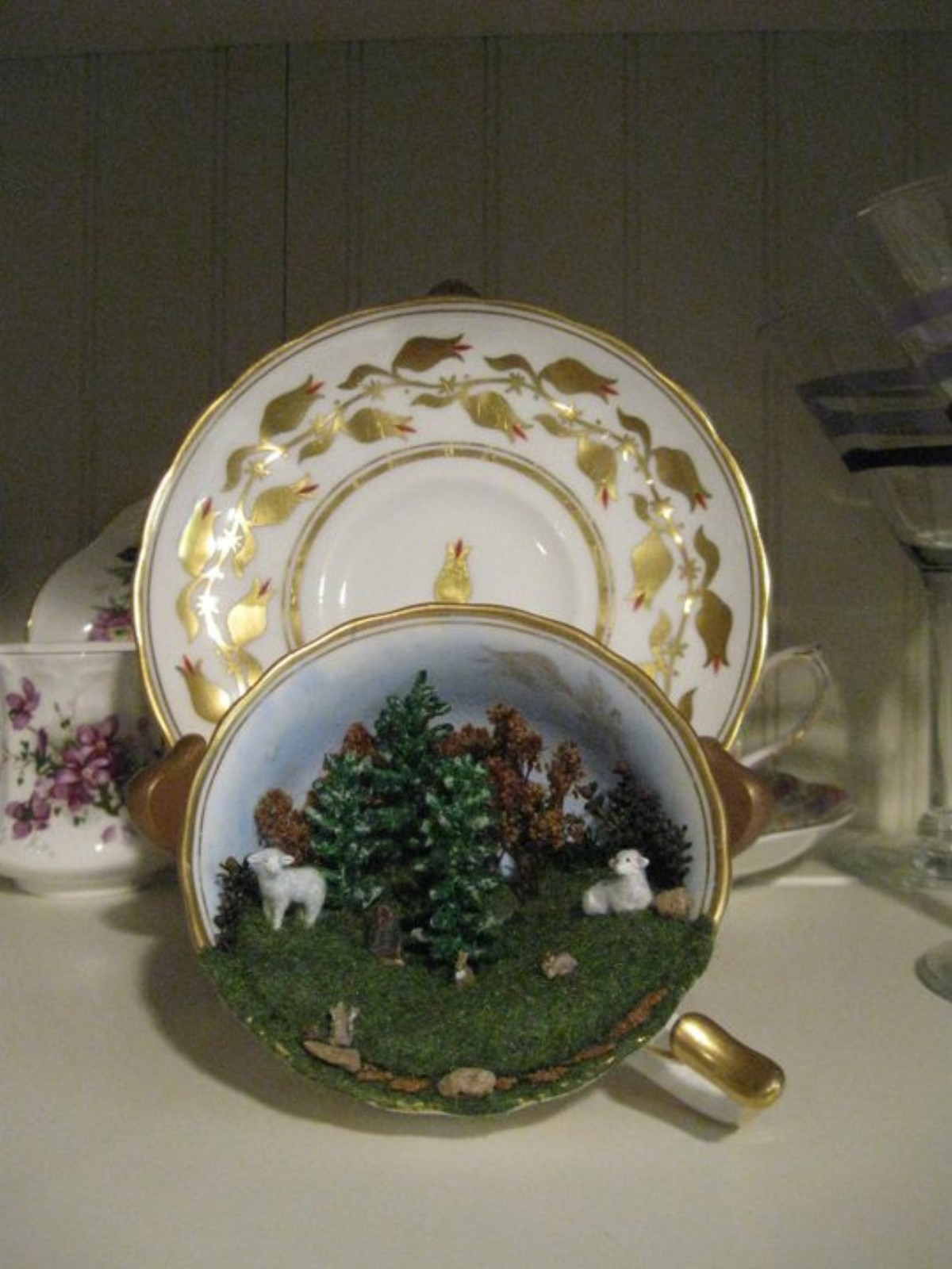 Forest Scene in a Tea Cup