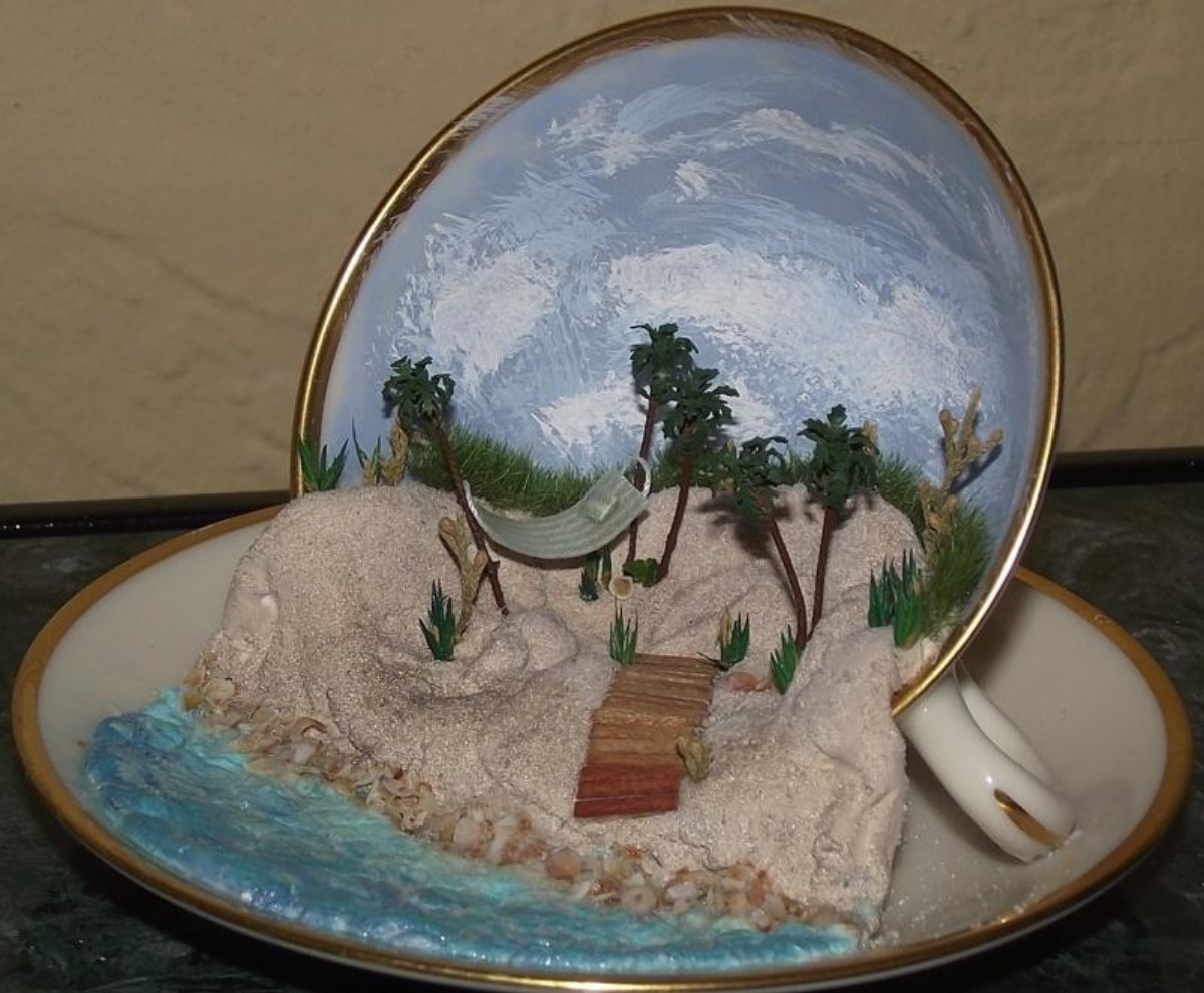 Beach Scene in a Tea Cup